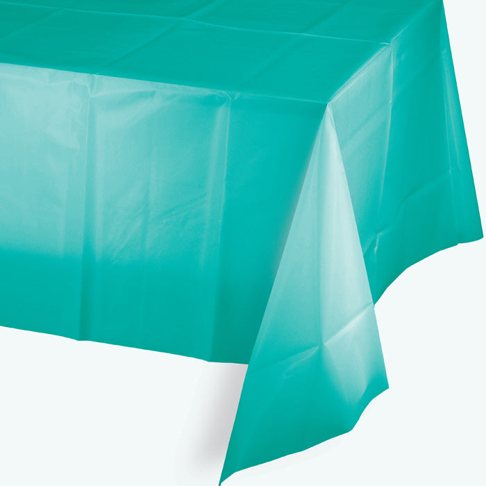 "Teal Lagoon Tablecover Plastic 54"" X 108"" by Creative Converting"