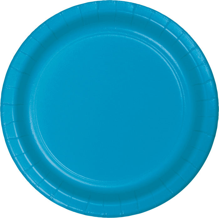 Turquoise Blue Banquet Plates, 24 ct by Creative Converting