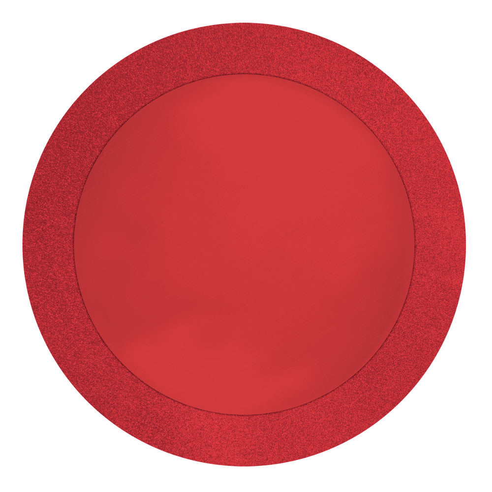 "Glitz Red Placemats, 14"", 8 ct by Creative Converting"