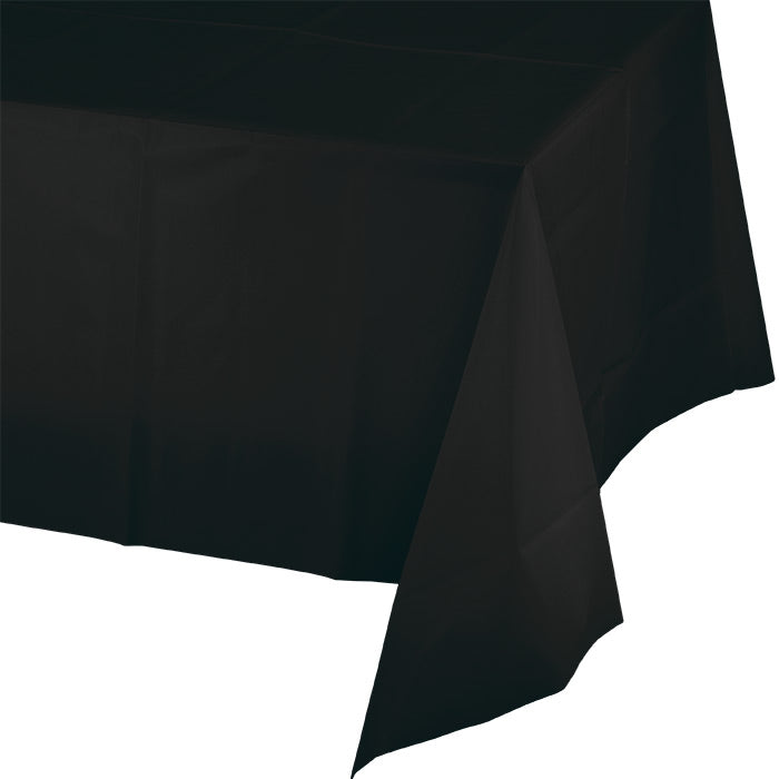 "Black Velvet Tablecover Plastic 54"" X 108"" by Creative Converting"