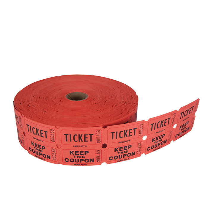 Red/Blue/Orange/Green 50/50 Ticket Roll by Creative Converting