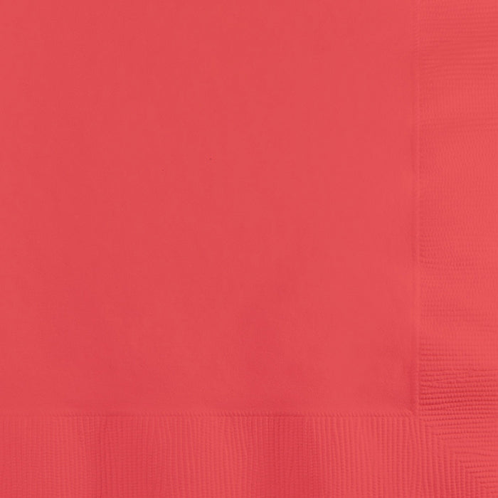 Coral Beverage Napkin, 3 Ply, 50 ct by Creative Converting