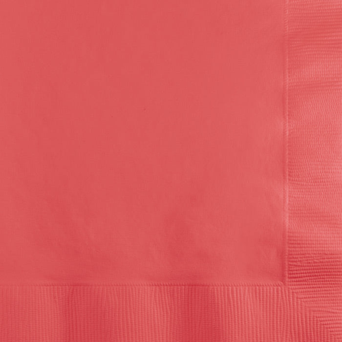 Coral Beverage Napkin 2Ply, 50 ct by Creative Converting