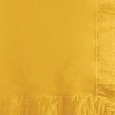 School Bus Yellow Beverage Napkin 2Ply, 50 ct by Creative Converting