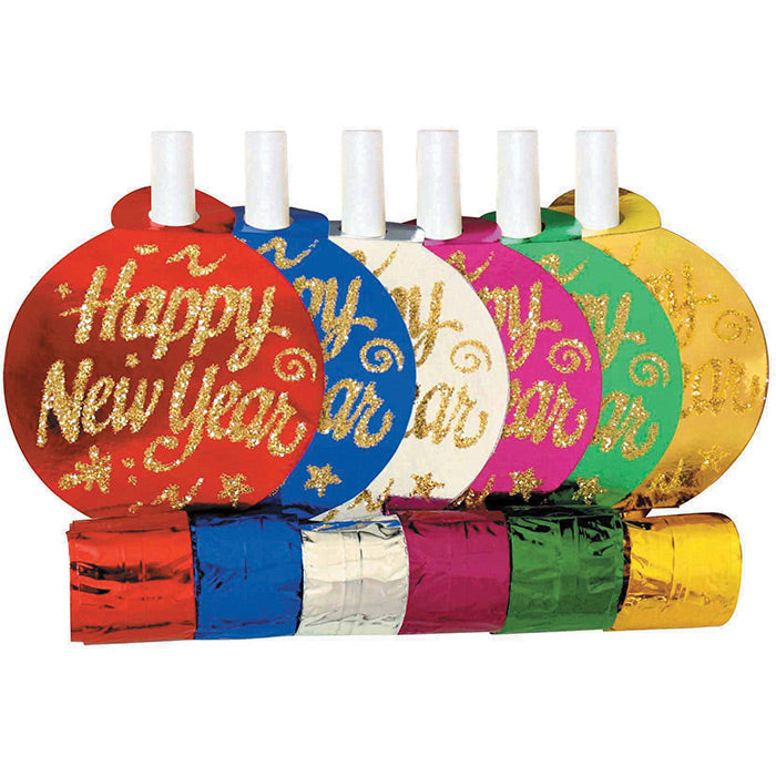 New Year'S Assorted Party Blowers, 6 ct by Creative Converting