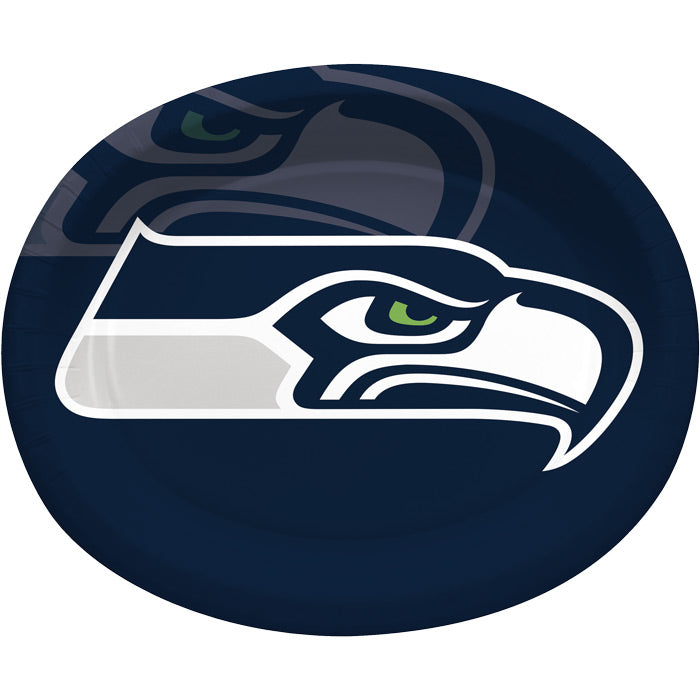 "Seattle Seahawks Oval Platter 10"" X 12"", 8 ct by Creative Converting"
