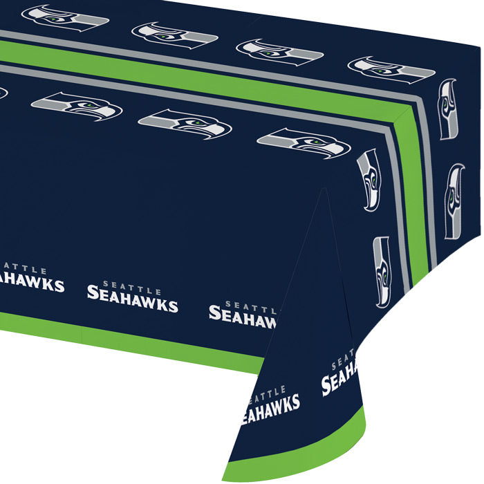 "Seattle Seahawks Plastic Tablecloth, 54"" X 108"" by Creative Converting"