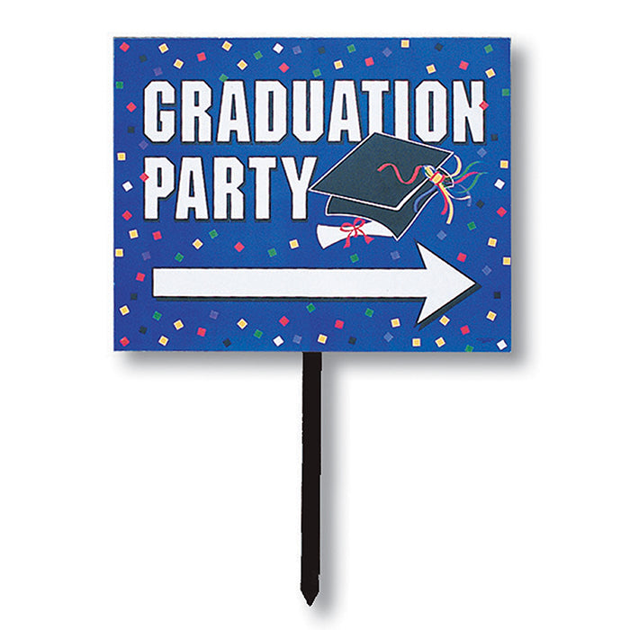 Blue Graduation Yard Sign by Creative Converting