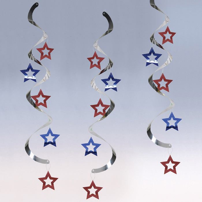 Patriotic Stars Dizzy Dangers, 5 ct by Creative Converting