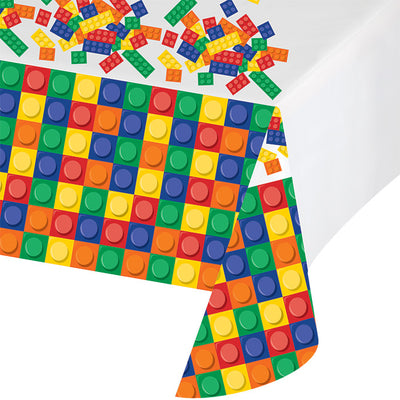"Block Party All Over Prt Plastic Tablecover 54"" X 102"" by Creative Converting"