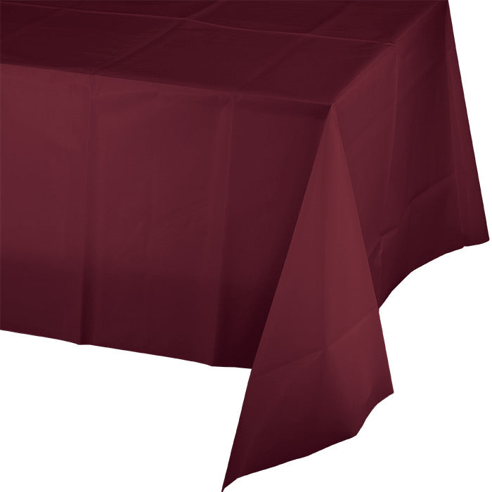 "Burgundy Tablecover Plastic 54"" X 108"" by Creative Converting"