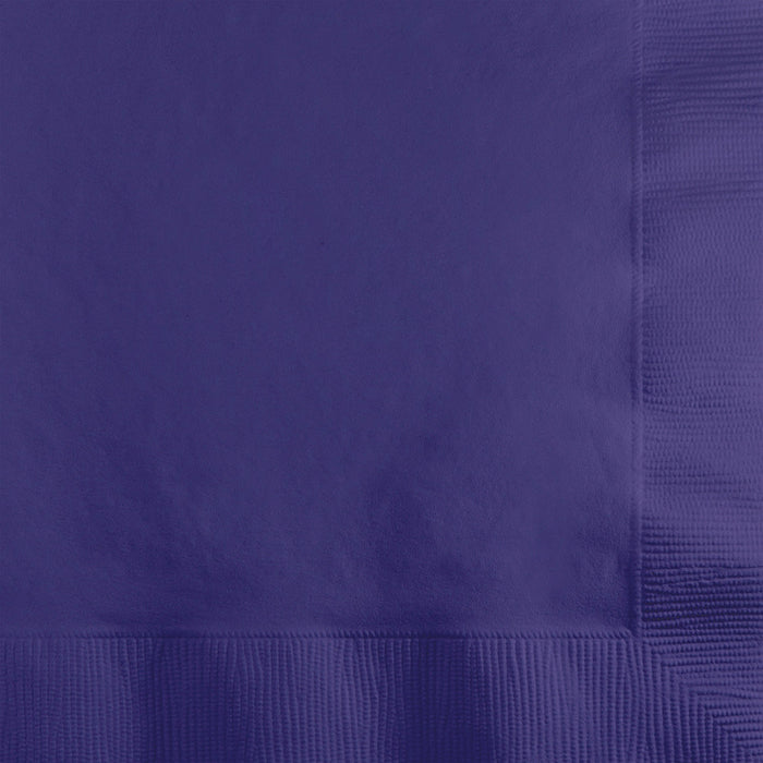 Purple Beverage Napkin 2Ply, 200 ct by Creative Converting