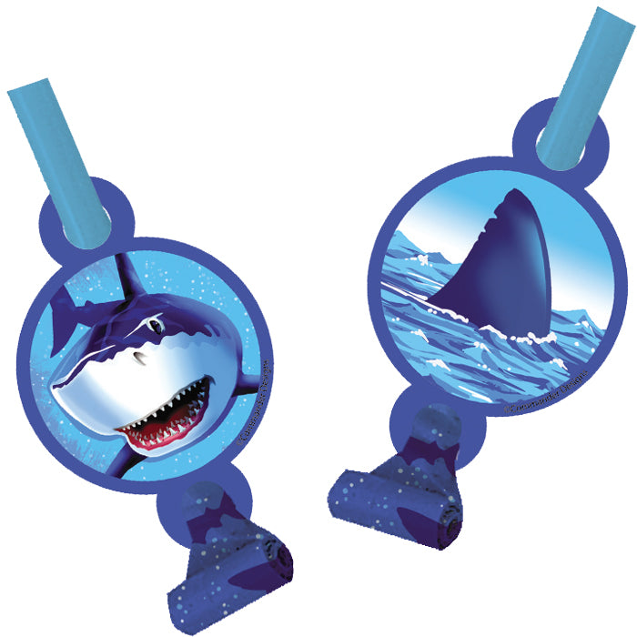 Shark Splash Blowouts W/Med, 8 ct by Creative Converting