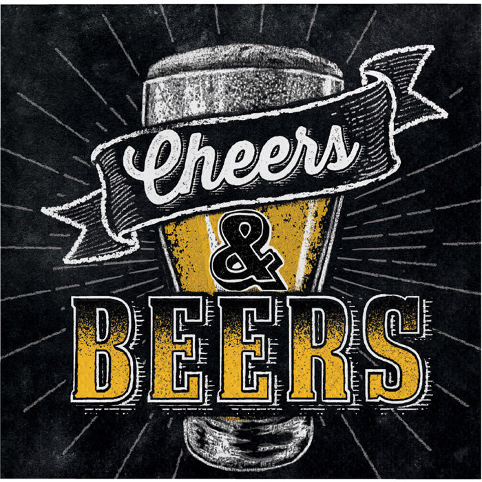 Cheers And Beers Beverage Napkins, 16 ct by Creative Converting