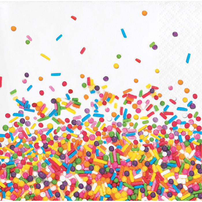 Confetti Sprinkles Beverage Napkins, 16 ct by Creative Converting