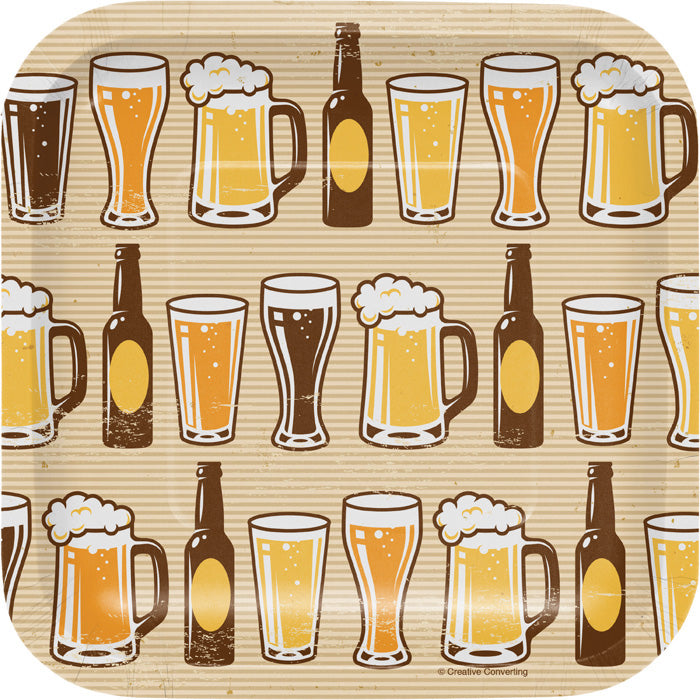 Cheers And Beers Appetizer Plates, 8 ct by Creative Converting