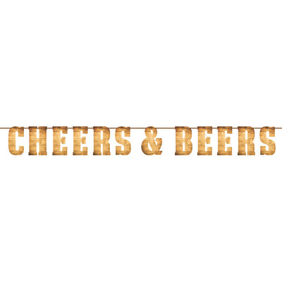Cheers And Beers Letter Banner by Creative Converting