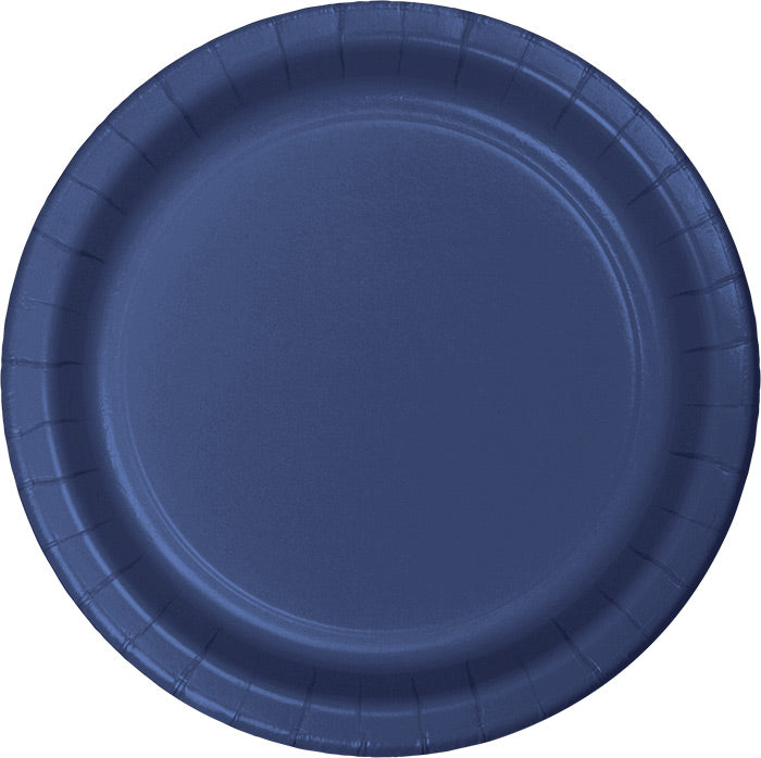 Navy Blue Banquet Plates, 24 ct by Creative Converting