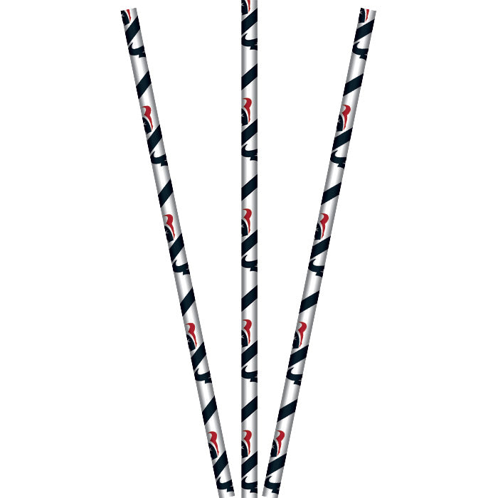 Houston Texans Paper Straws, 24 ct by Creative Converting