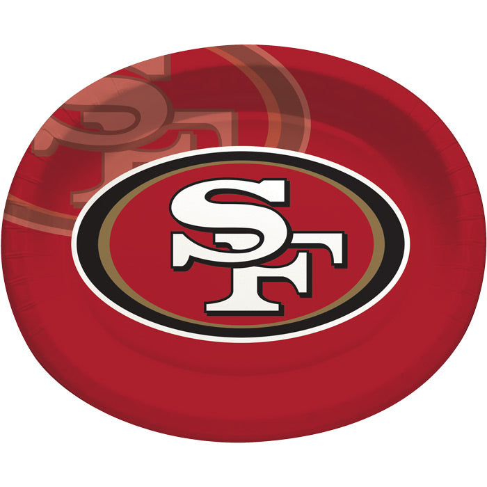 "San Francisco 49Ers Oval Platter 10"" X 12"", 8 ct by Creative Converting"