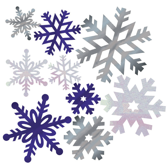 Foil Snowflake Cutouts, 12 ct by Creative Converting