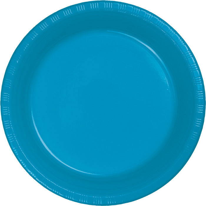 Turquoise Blue Plastic Dessert Plates, 20 ct by Creative Converting