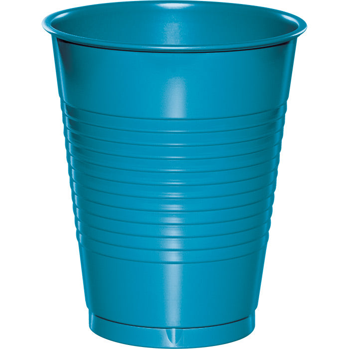 Turquoise Blue Plastic Cups, 20 ct by Creative Converting
