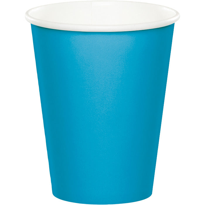 Turquoise Hot/Cold Paper Paper Cups 9 Oz., 24 ct by Creative Converting