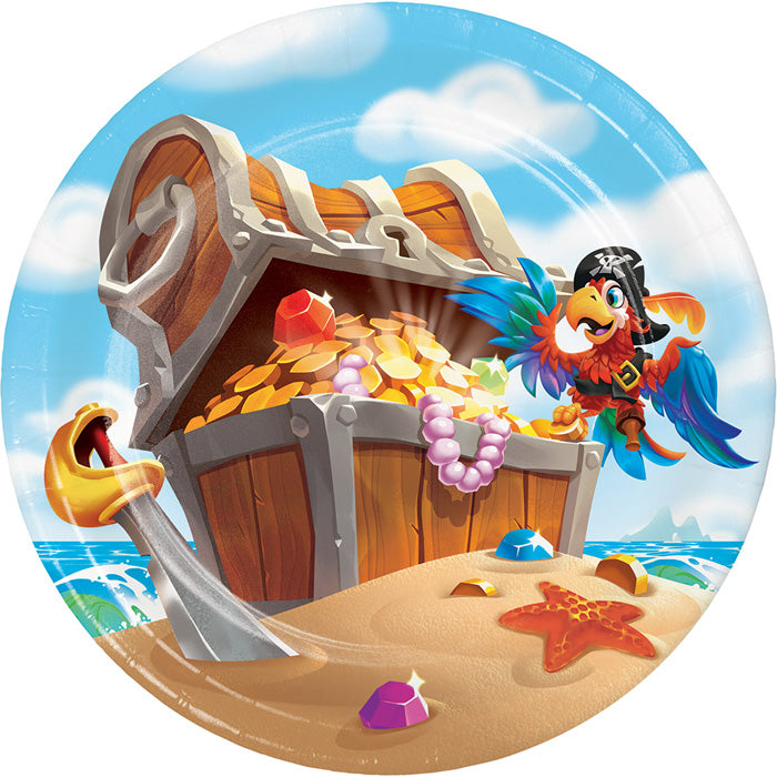 Pirate Treasure Dessert Plates, 8 ct by Creative Converting