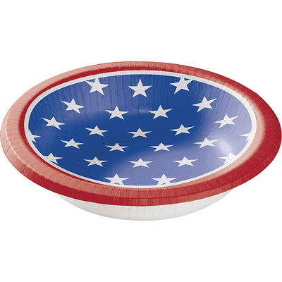 Stars And Strips Paper Bowls, 8 ct by Creative Converting