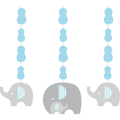 Little Peanut Boy Elephant Hanging Cutouts, 3 ct by Creative Converting
