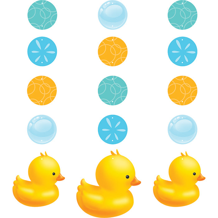 Rubber Duck Bubble Bath Hanging Cutouts, 3 ct by Creative Converting