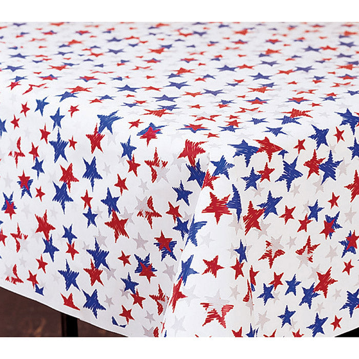 "Patriotic Banquet Roll, Rwb Stars 40"" X 50' by Creative Converting"