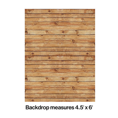 Woodgrain Photo Backdrop Party Decoration