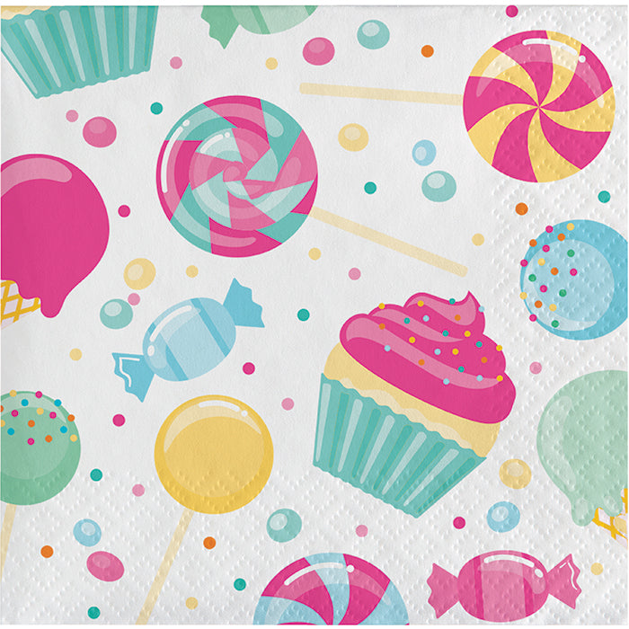 Candy Bouquet Beverage Napkins, 16 ct by Creative Converting
