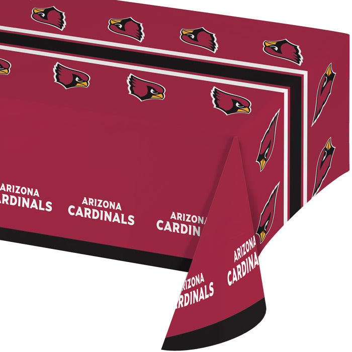 "Arizona Cardinals Plastic Tablecloth, 54"" X 108"" by Creative Converting"