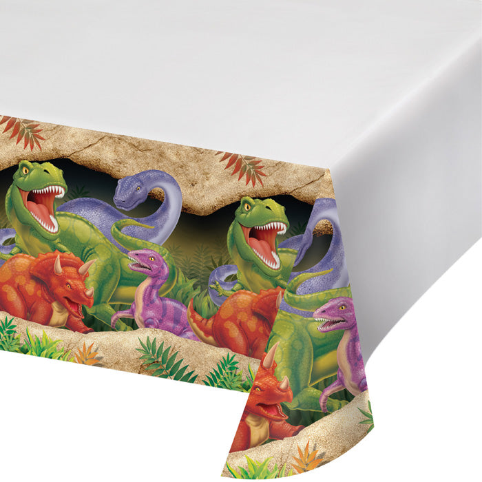 "Dino Blast Tablecover Plastic 54"" X 108"" by Creative Converting"