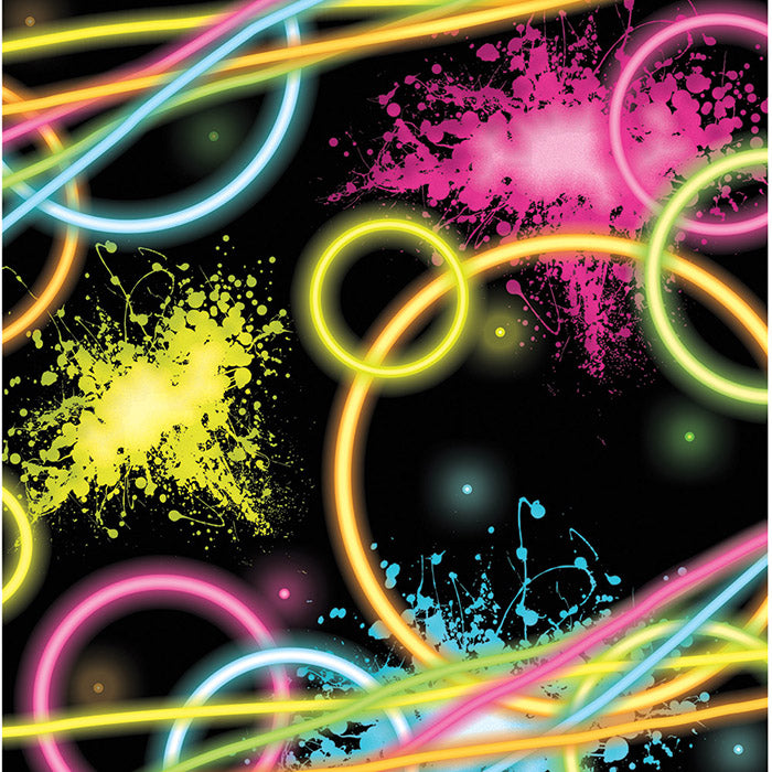 Glow Party Beverage Napkins, 16 ct by Creative Converting