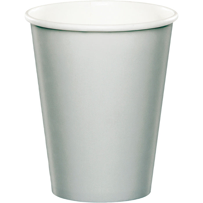 Shimmering Silver Hot/Cold Paper Paper Cups 9 Oz., 8 ct by Creative Converting