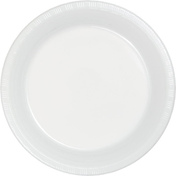 White Prem Plastic Banquet Plates, 20 ct by Creative Converting