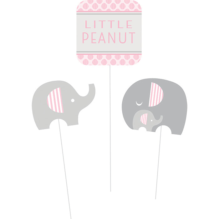 Little Peanut Girl Elephant Diy Centerpiece Sticks, 3 ct by Creative Converting