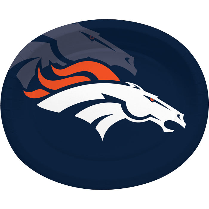 "Denver Broncos Oval Platter 10"" X 12"", 8 ct by Creative Converting"