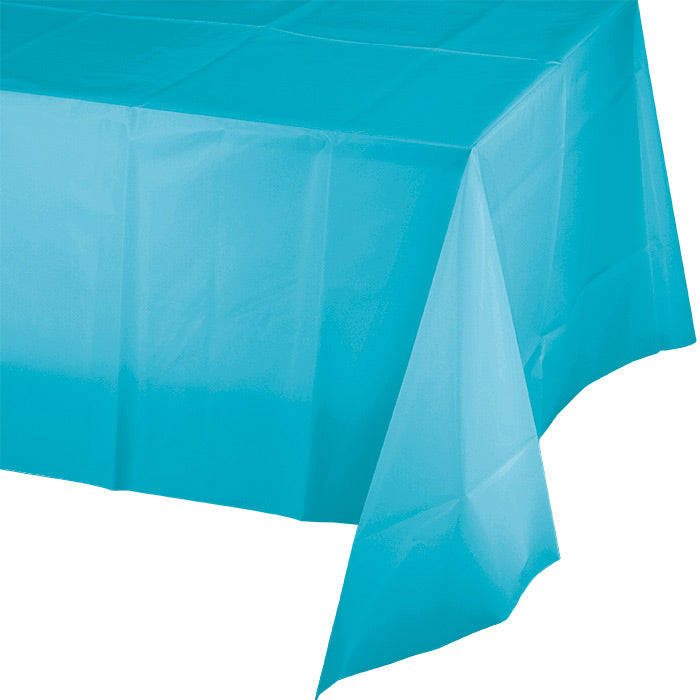 "Bermuda Blue Tablecover Plastic 54"" X 108"" by Creative Converting"