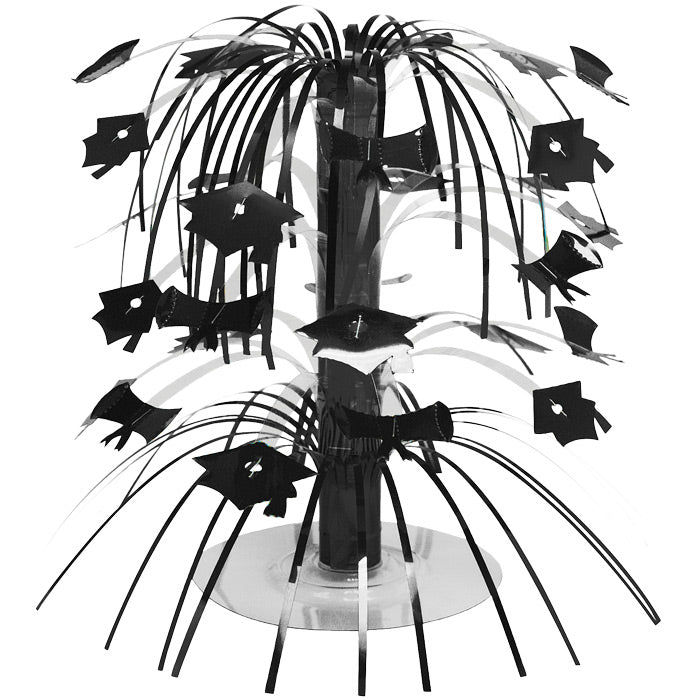 Black Mortarboard Graduation Centerpiece by Creative Converting