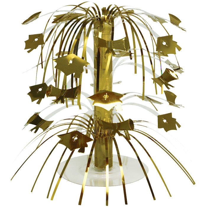 Gold Mortarboard Graduation Centerpiece by Creative Converting