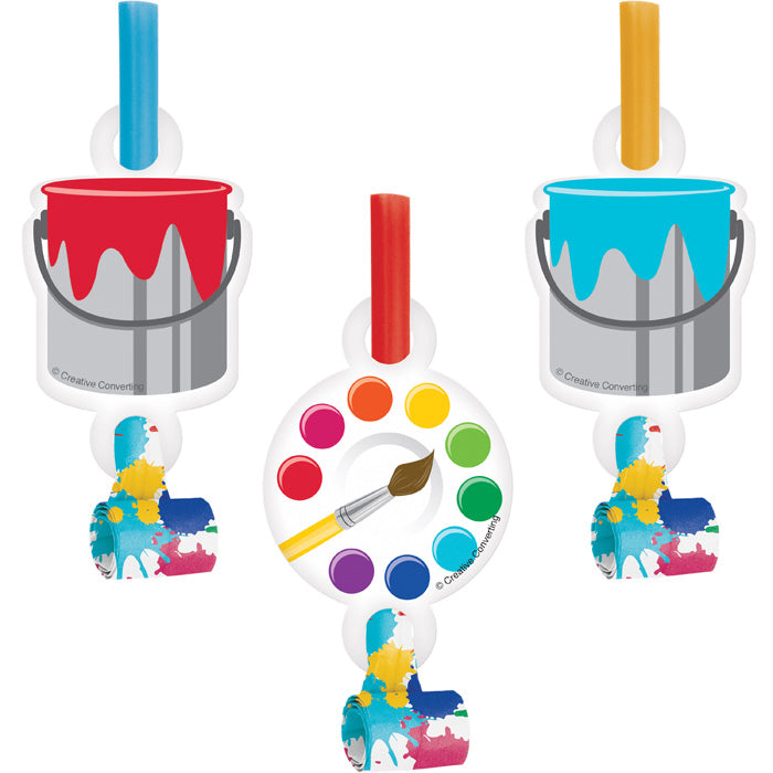 Art Party Blowouts W/Med, 8 ct by Creative Converting