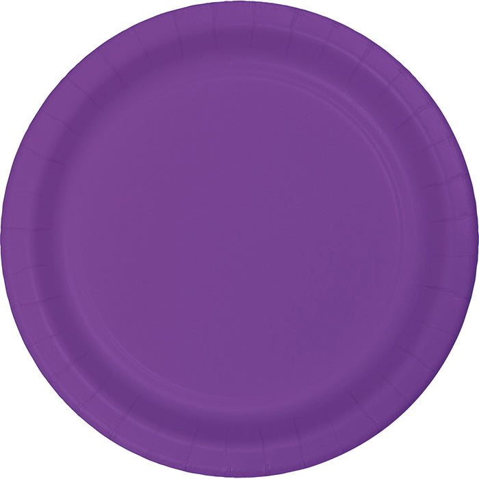Amethyst Purple Plastic Dessert Plates, 20 ct by Creative Converting