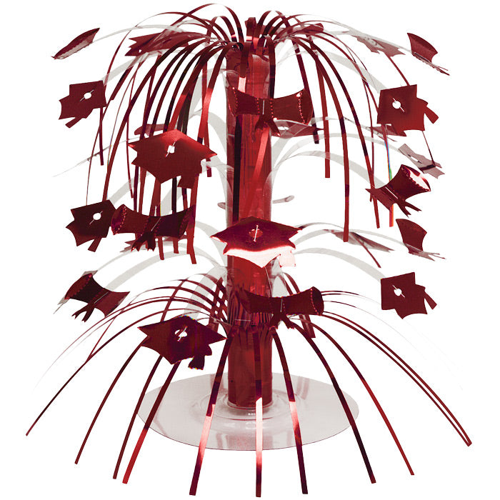 Red Mortarboard Graduation Centerpiece by Creative Converting
