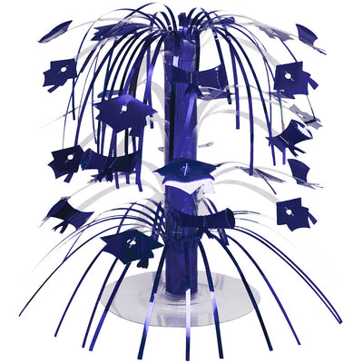 Blue Mortarboard Graduation Centerpiece by Creative Converting