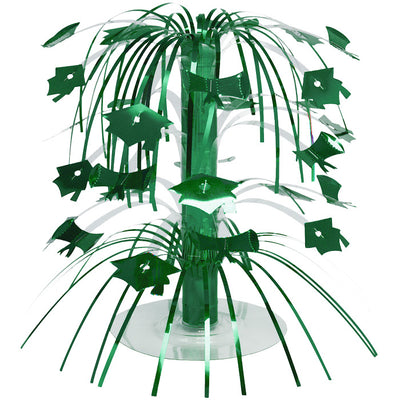 Green Mortarboard Graduation Centerpiece by Creative Converting